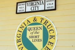V&T Logo on Exterior of Historic Depot