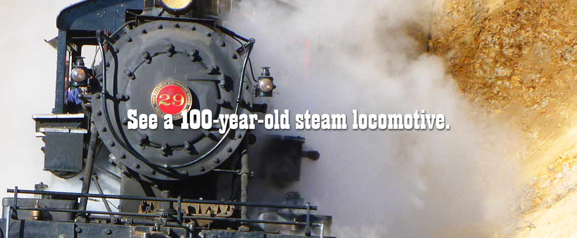 See a 100 Year Old Steam Locomotive